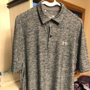Under Armour Heather Blue golf shirt